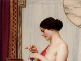 "John William Godward ""The New Perfume"" 1914. Wikimedia Commons."