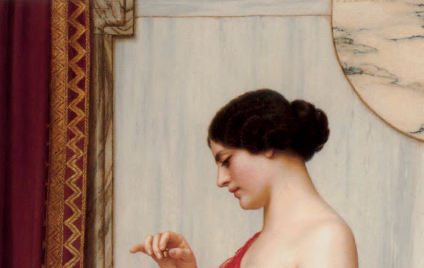 "John William Godward ""The New Perfume"" 1914. Wikimedia Commons."