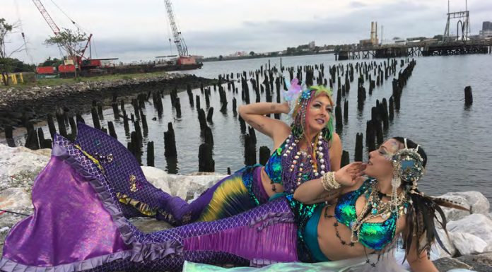 New York mermaids Kai Altair and Ali Luminescent
