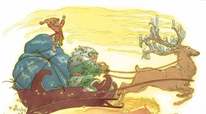 charles vess christmas illustration enchated living magazine
