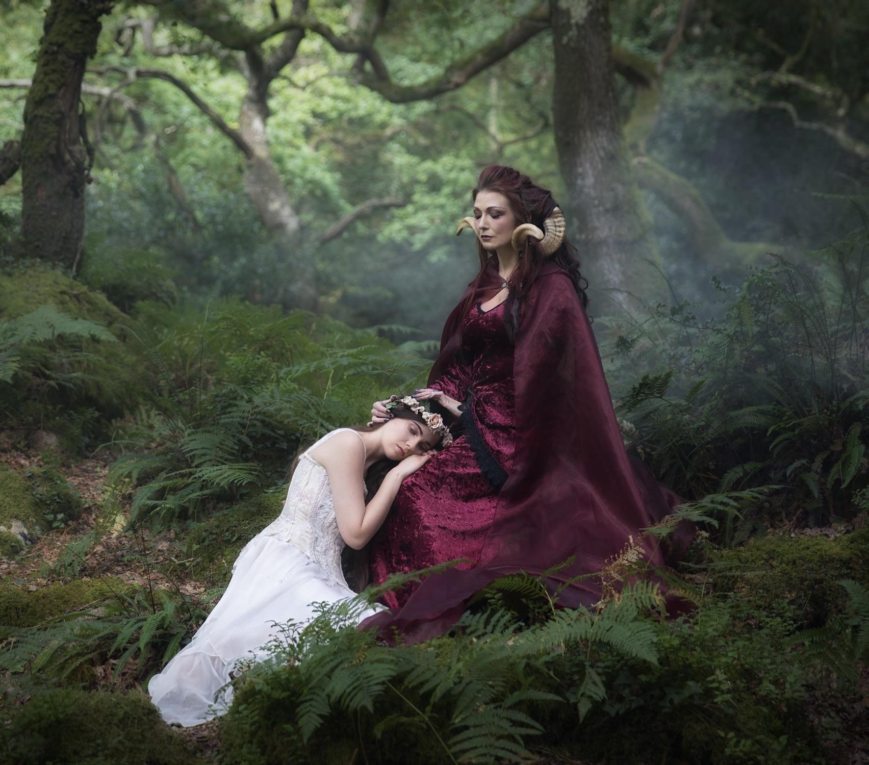 Enchanted Living Magazine, Photographer/Costumes: Carri Angel Photography Second Photographer: Ange Harper Models: Ian Hencher, Sorcha Verey, The Druidess Of Midian Headdress: Under the Ivy