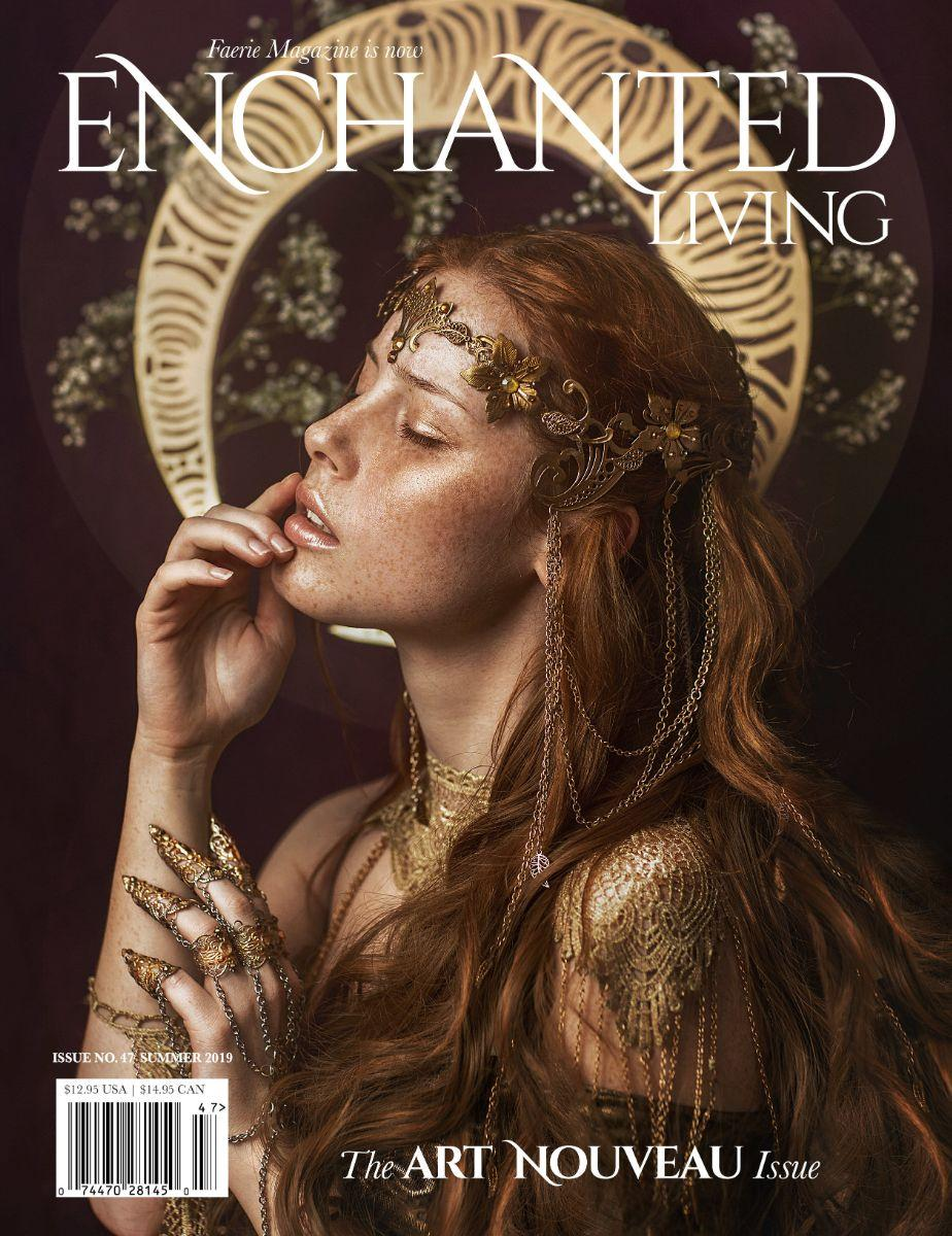 Enchanted Living Magazine, Art Nouveau, alphonse mucha
