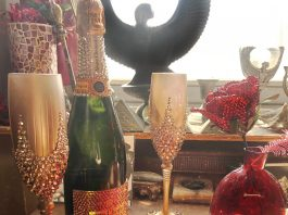 Crystal decor by Sarah Sparkles for ENVY installation at Bonnet Bash- Carnival of Capital Sins