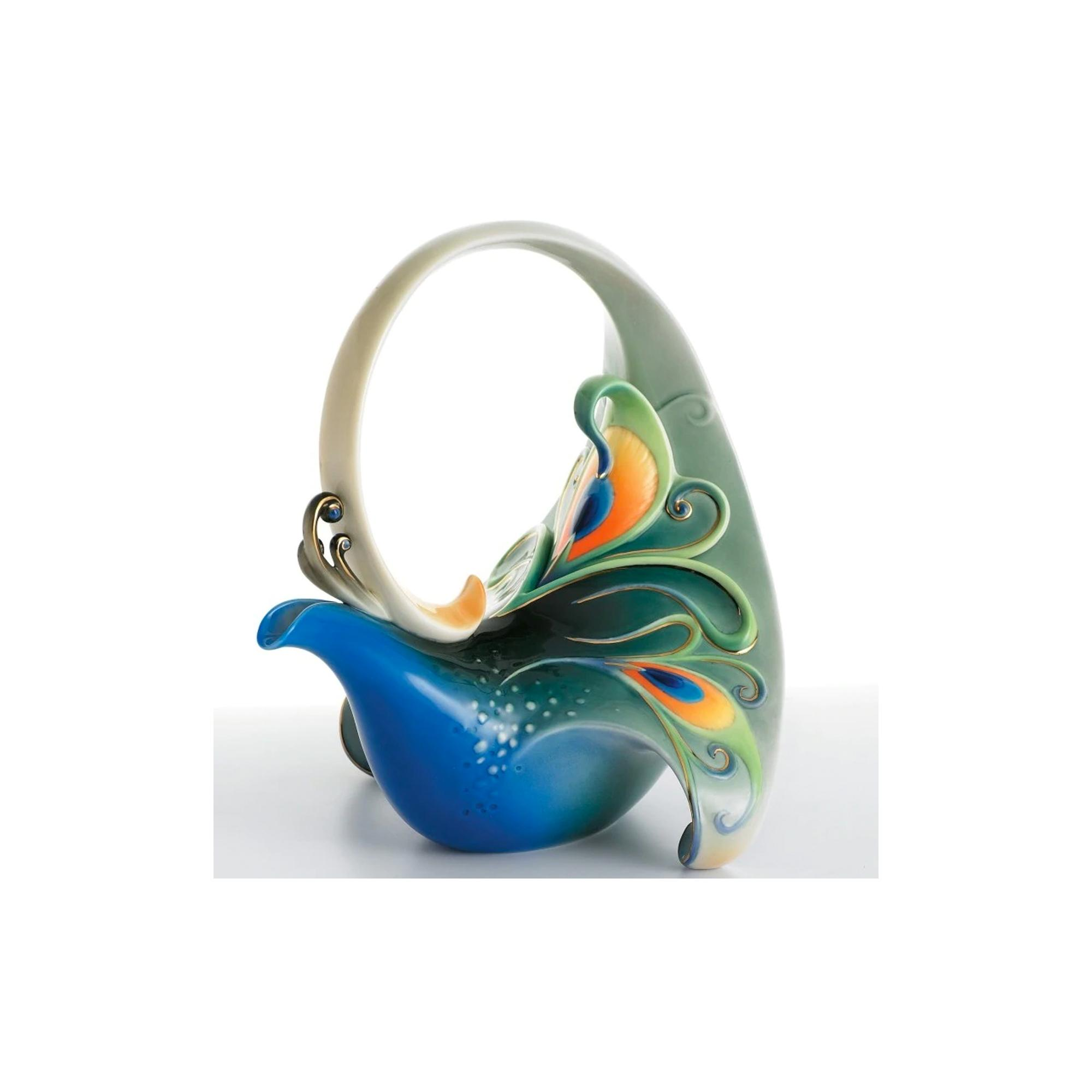 LUMINESCENCE PEACOCK COLLECTION TEAPOT