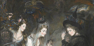 The Three Witches from Shakespeare's Macbeth by Daniel Gardner, 1775. Wikimedia Commons.