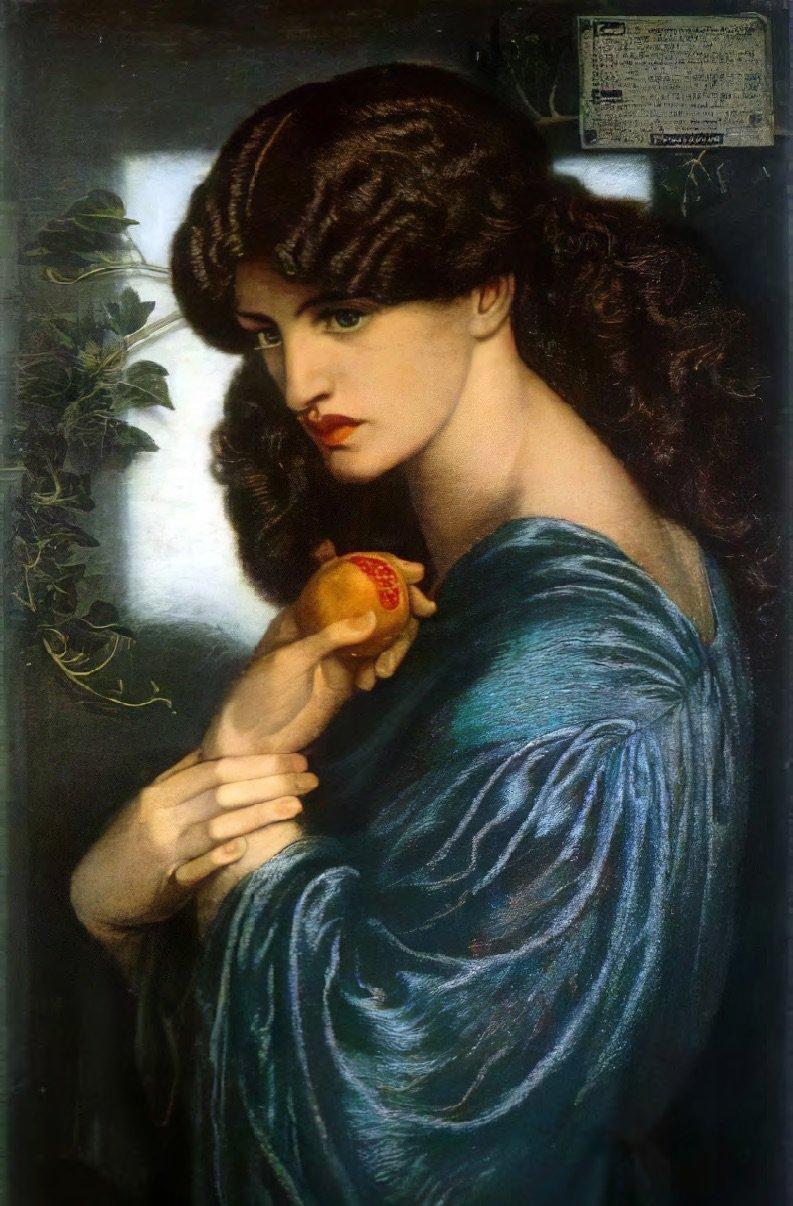 Proserpine, Dante Gabriel Rossetti. Wikimedia Commons