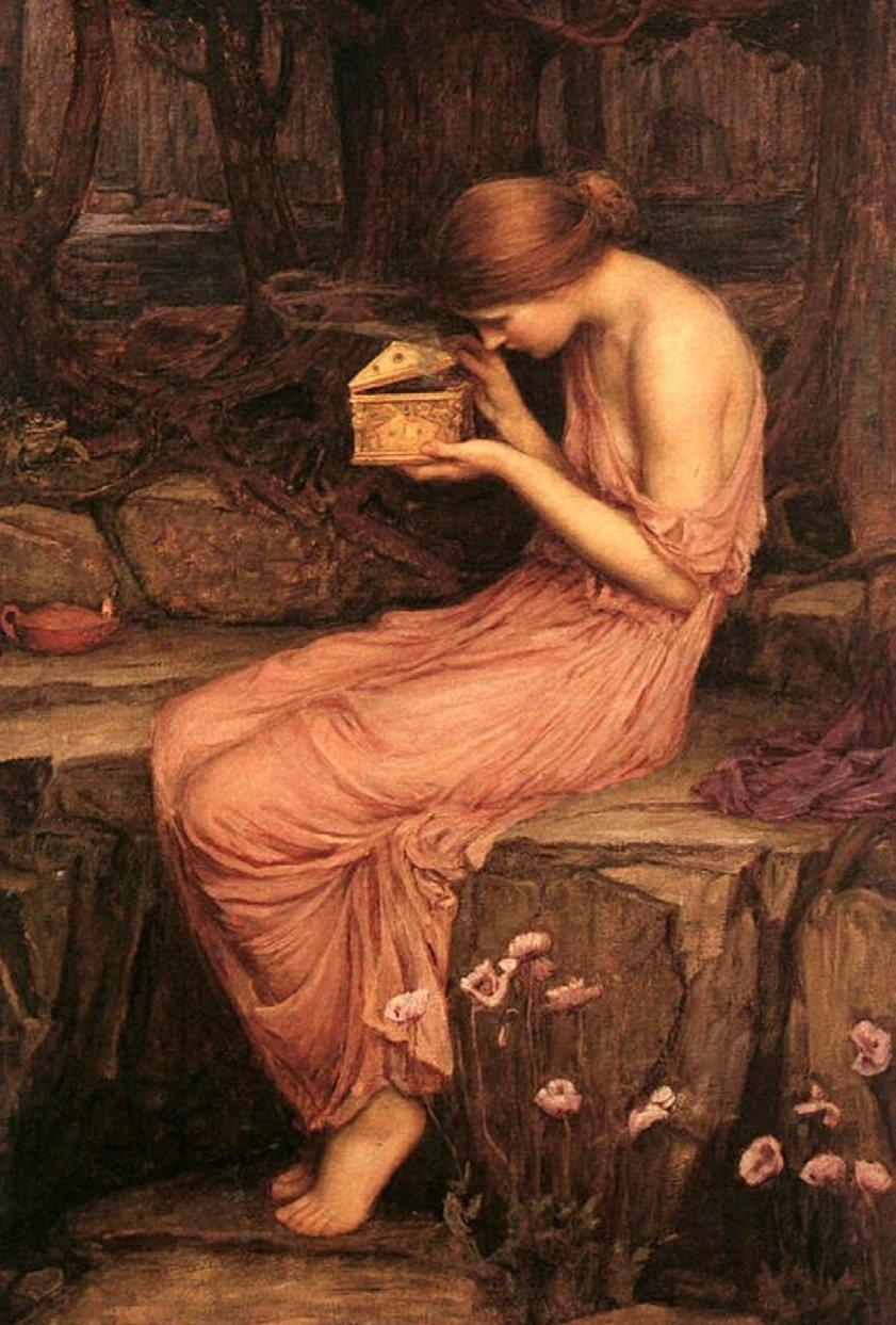 Psyche Opening the Golden Box, John William Waterhouse. Wikimedia Commons