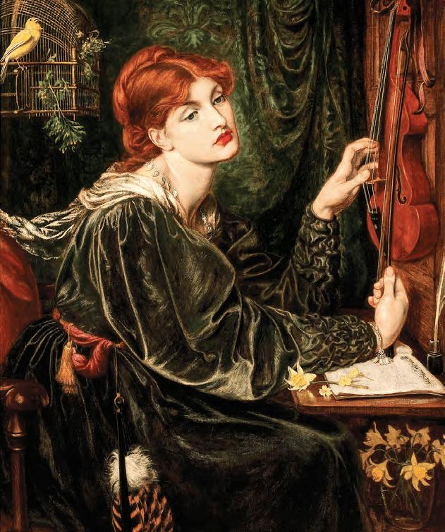 Veronica Veronese, Dante Gabriel Rossetti. Wikimedia Commons