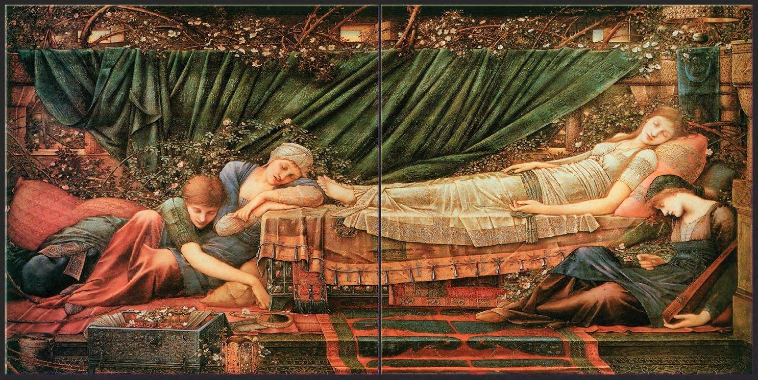 The Rose Bower from The Legend of Briar Rose by Edward Burne-Jones