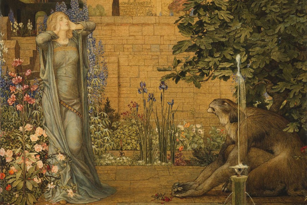 Beauty and the Beast, by John Dickson Batten © Birmingham Museum and Art Gallery.