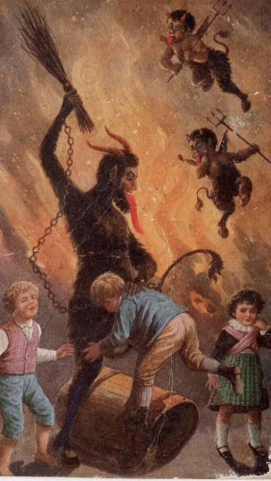 Krampus card, (ca.1920-30), Austria.