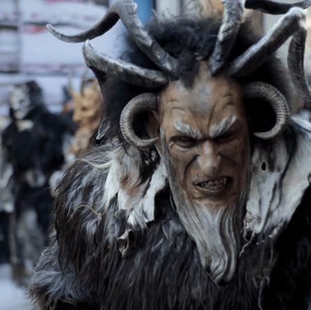 Krampuslauf at Munich Christkindlmarkt. Photo by tribp, via flickr (CC BY 2.0).