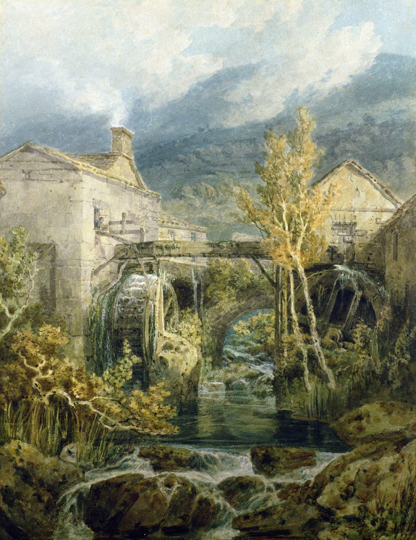 ©Bridgeman Images The Old Mill, Ambleside, 1798, by J.M.W. Turner