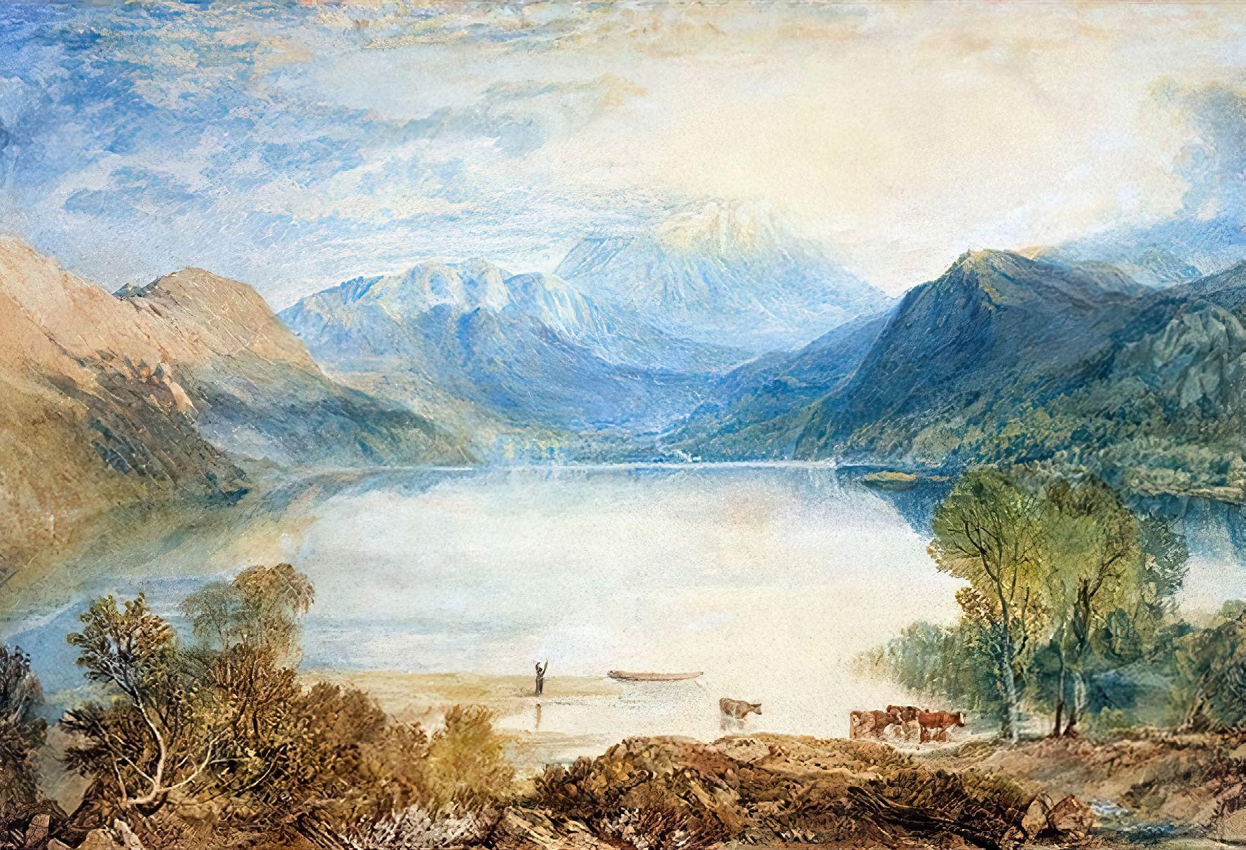 ©Wikimedia Commons Ullswater From Gowbarrow Park, 1815, by J.M.W. Turner