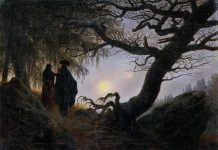 Man and Woman Contemplating the Moon, 1824, by Caspar David Friedrich