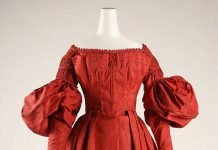 Dress, circa 1837, American. Silk. The Metropolitan Museum of Art, New York, Rogers Fund.