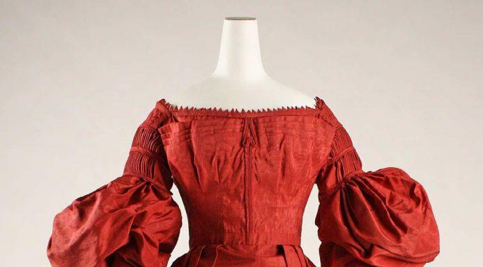 Dress, circa 1837, American. Silk. The Metropolitan Museum of Art, New York, Rogers Fund.