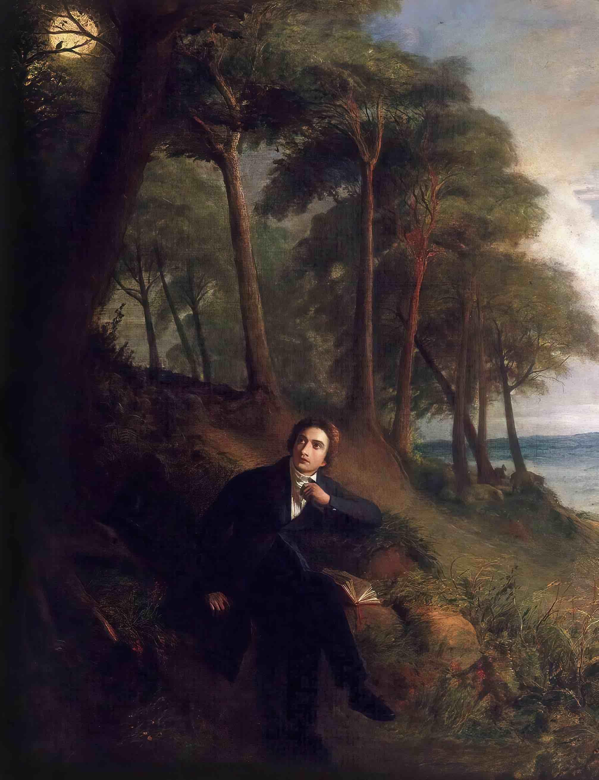 Keats Listening to the Nightingale on Hampstead Heath, 1845, by Joseph Severn