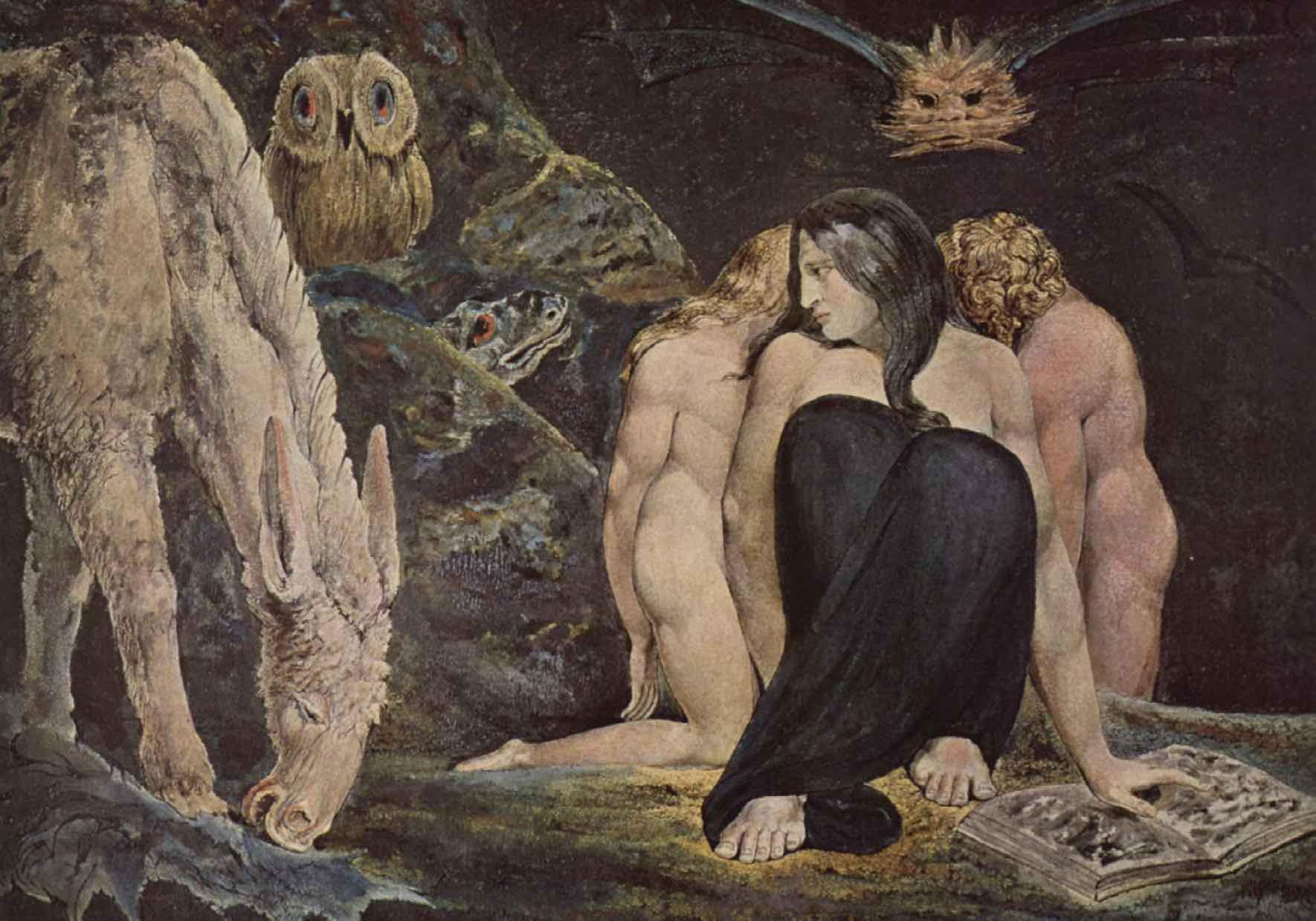 The Night of Enitharmon's Joy, 1795, William Blake. B
