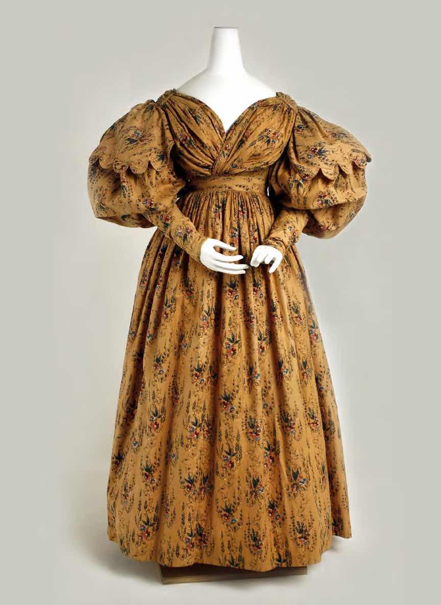 Walking dress, circa 1830, British. Cotton. The Metropolitan Museum of Art, New York, Purchase, Irene Lewisohn Bequest.