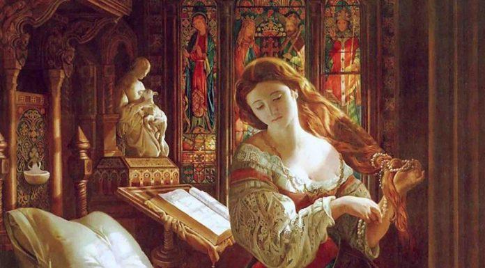 Madeline After Prayer, 1868, by Daniel Maclise Art Renewal Center