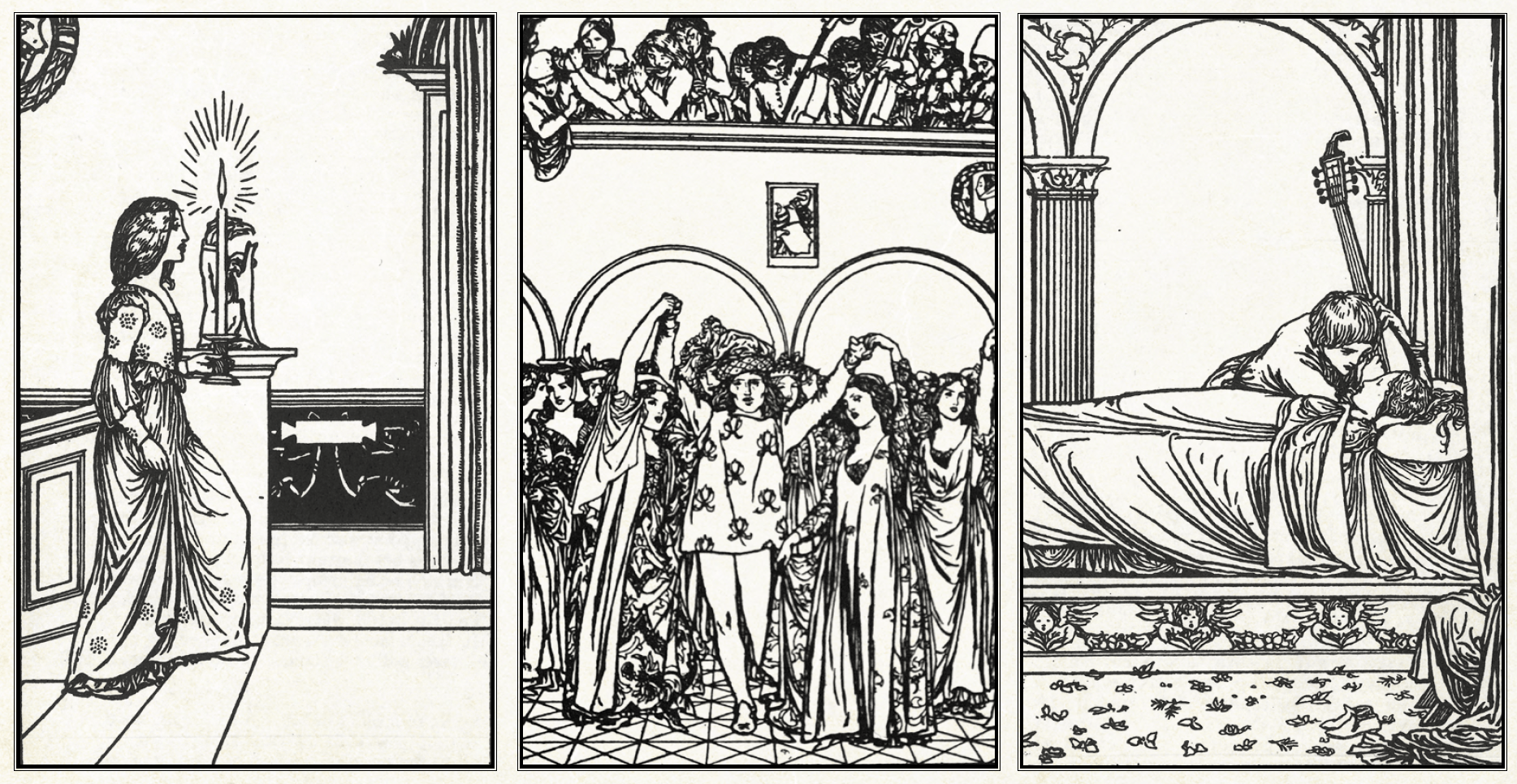 Illustrations by Robert Anning Bell from an 1898 edition of Keats's poetry