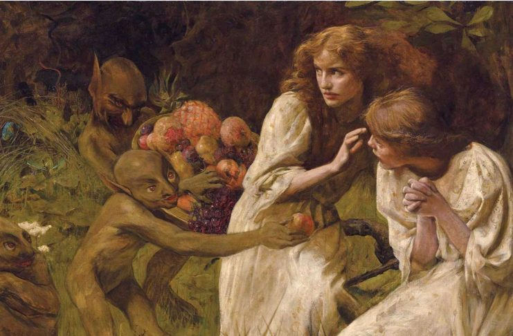 The Goblin Market, 1895, by Hilda Koe, oil on canvas